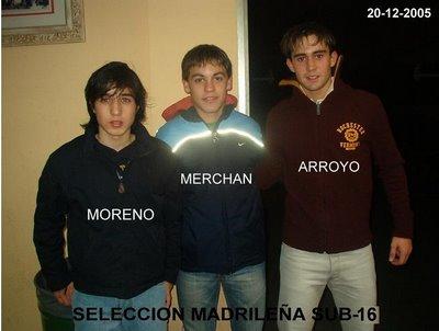 Давид Морено, Виктор Мерчан и Рубен Арройо