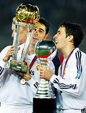 Фернандо и Рауль празднуют завоевание Межконтинентального Кубка