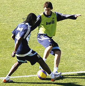 Игуаин на тренировке с Бальбоа