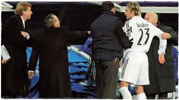 2005 год. Шустер ругается с Бекхэмом