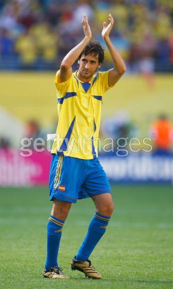Рауль в футболке сборной Украины