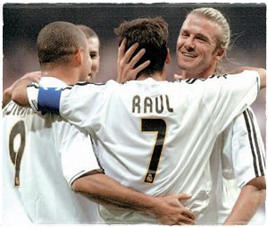 Роналдо, Зидан, Рауль и Бекхэм - сентябрь 2003