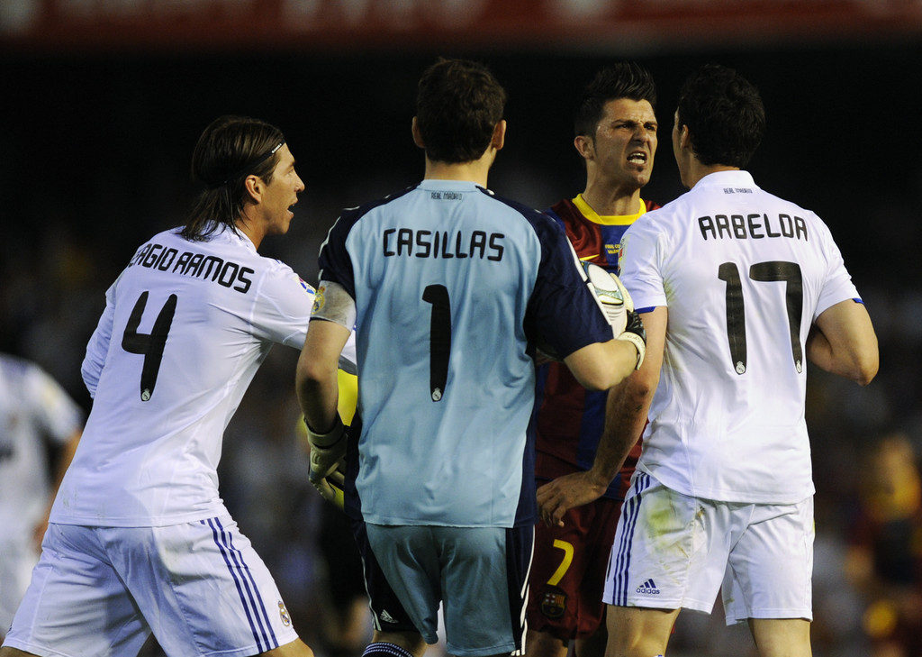 В финале Кубка Испании 2011 против Барселоны