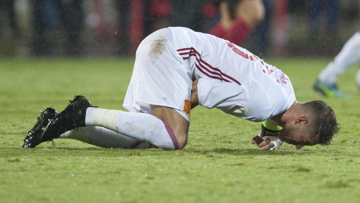 Серхио Рамос травма Сборная Испании