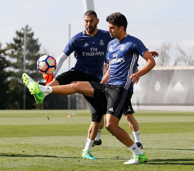"Энцо Зидан на тренировке ""Реал Мадрида"""
