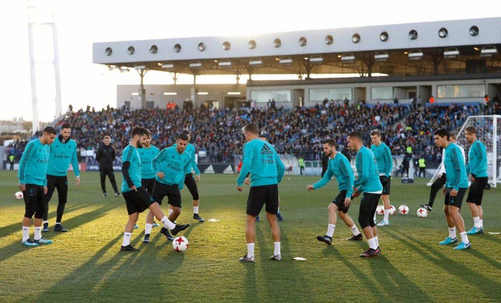 Тренировка Реал Мадрид