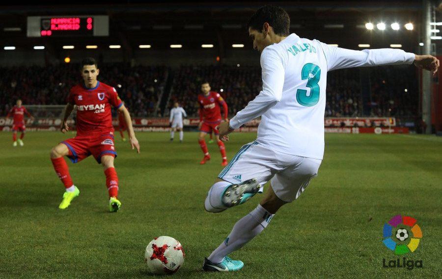 Вальехо в матче против Нумансии