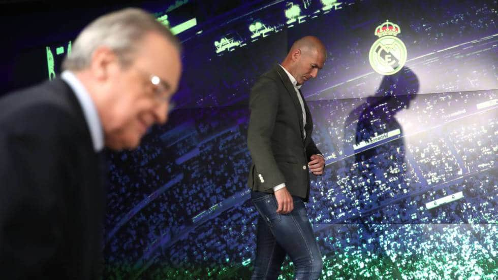 Зинедин Зидан Реал Мадрид Флорентино Перес